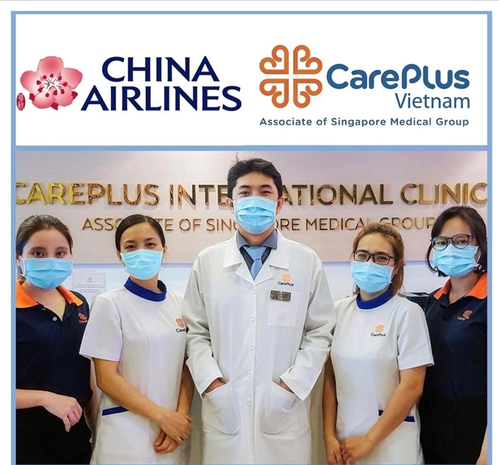 Safe flight with CHINA AIRLINES and CAREPLUS CLINIC