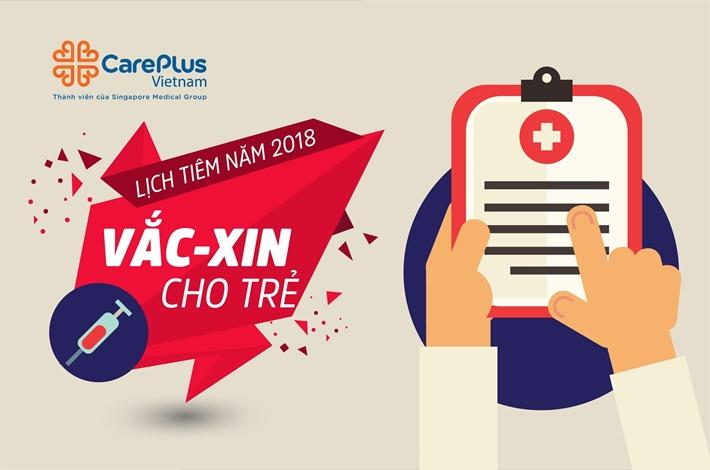 Lịch tiêm vacxin cho trẻ sơ sinh và trẻ nhỏ năm 2019