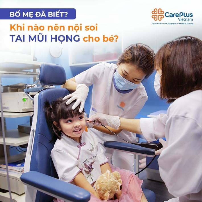 Khi nào thì cần thiết nội soi tai, mũi, họng cho bé?