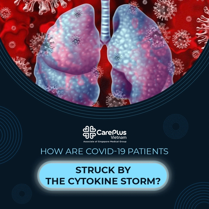 How are COVID-19 patients struck by the Cytokine storm?