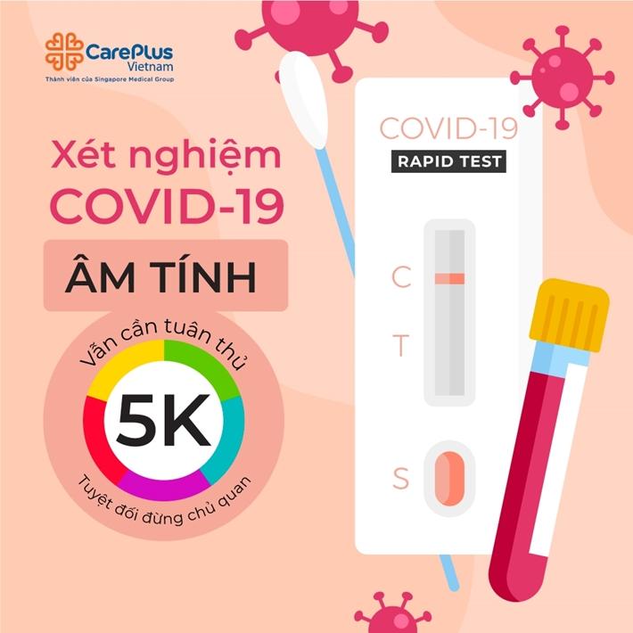 Xét nghiệm COVID-19 âm tính vẫn cần tuân thủ 5K