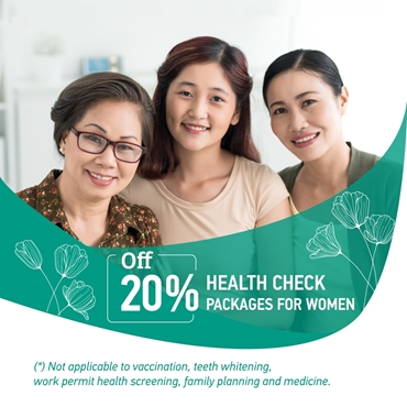 20% OFF on health packages for Women