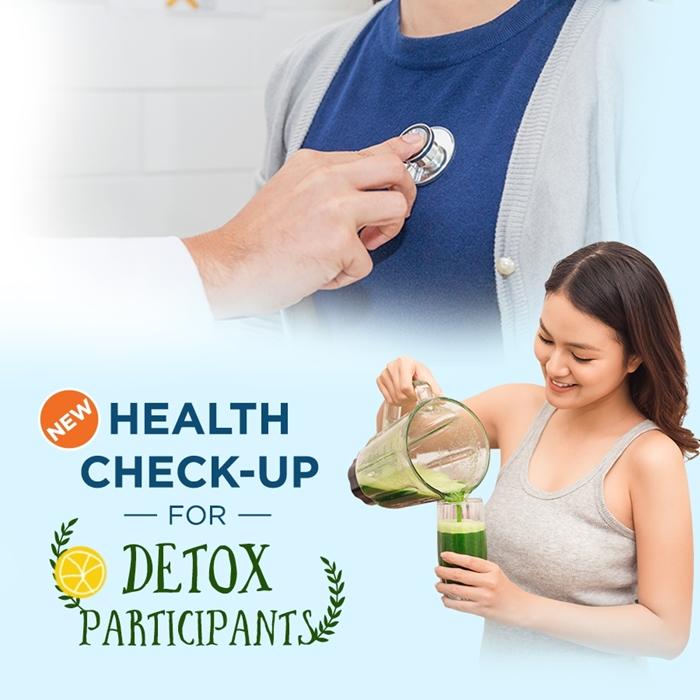 Health check-up for detox participants