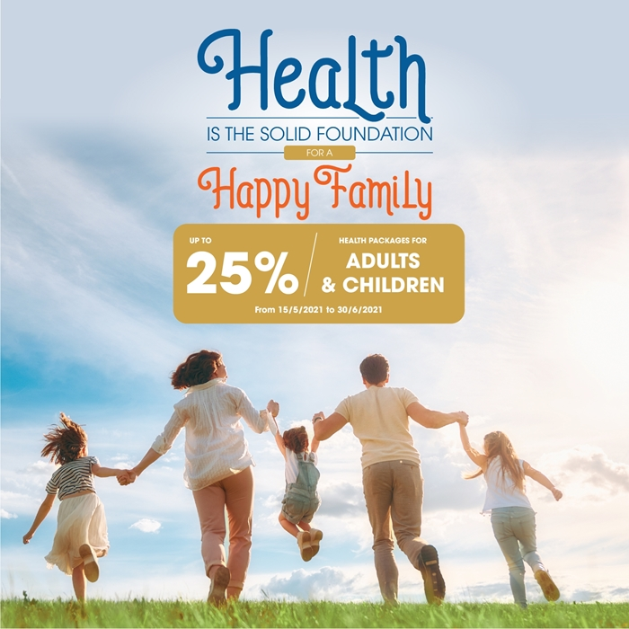 Up to 25% OFF on health check packges for Adults & Children