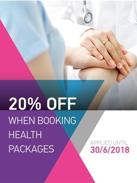 20% OFF When Booking Health Packages On Our New Website
