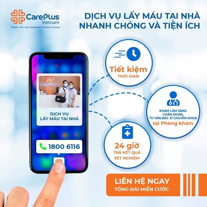 CarePlus chính thức triển khai dịch vụ lấy máu xét nghiệm tại nhà