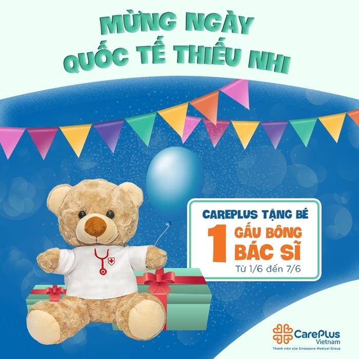 Tặng ngay 1 gấu bông bác sĩ cho các bé từ 1.6 - 7.6