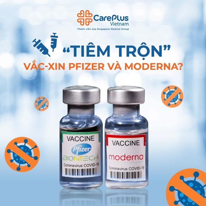 Tiêm trộn vắc-xin Pfizer và Moderna?