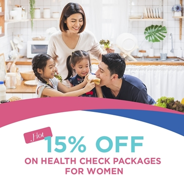 Happy Oct 20 - 15% off on health check packages for Women