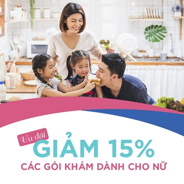 Mừng 20/10 - Giảm 15% gói khám sức khỏe cho Nữ