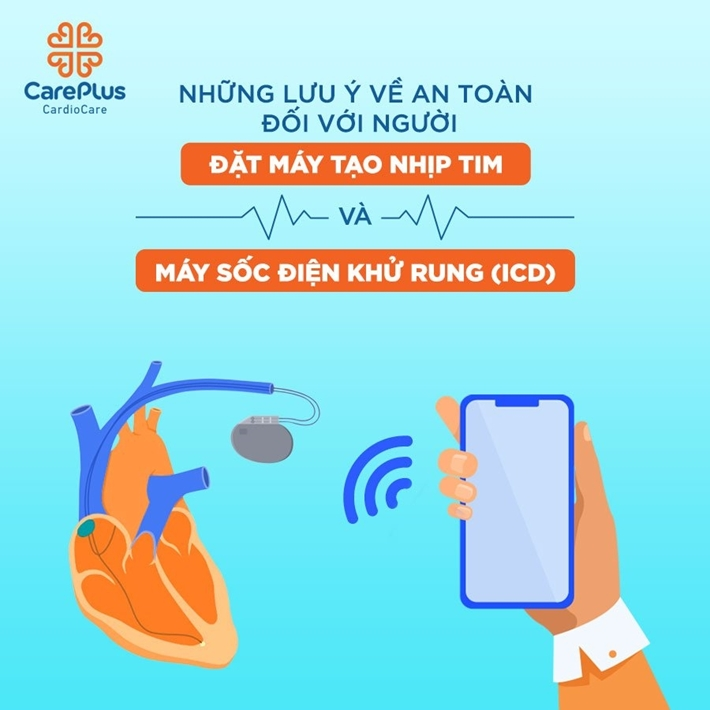 Precaution for people with pacemakers and defibrillators when using smartphones and smartwatches